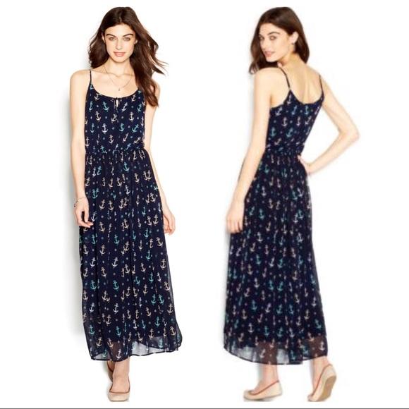 Maison Jules Dresses   Skirts - Maison Jules Navy Anchor Maxi Dress Size XS 0e4d01f8b